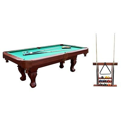 SPORTCRAFT BALL And Claw Billiard Pool Table With Cue Rack - Sportcraft 7ft pool table review