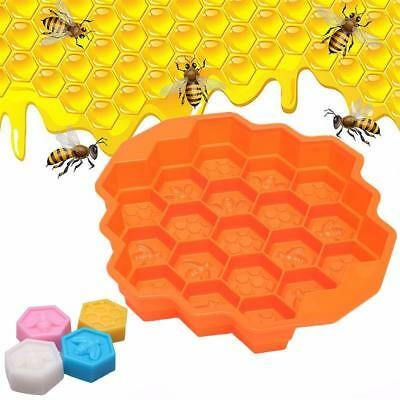 Silicone Cake Mold Bees Soap Mould 19 Cell Honey Comb Beeswax