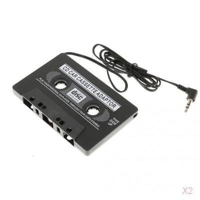 2x Car Stereo Cassette Tape Adapter for iPod iPhone MP3 AUX CD Player 3.5mm