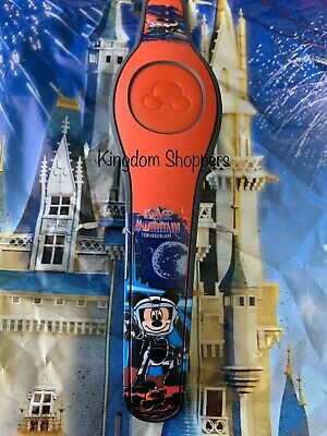 NEW Disney Parks Space Mountain RED Magic Band 2 Magicband Mickey Stitch