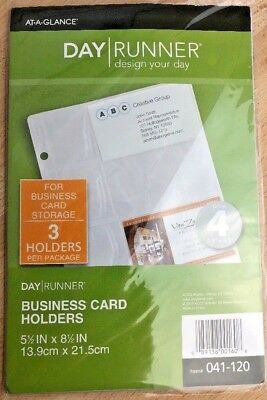 Day Runner Top-Loading Business Card Holder, Clear, 5.5 x 8.5 Inches 041-120