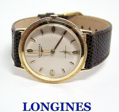 Vintage 14k LONGINES Mens Winding Watch Cal 23Z 1960s* EXLNT Condition* SERVICED
