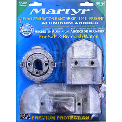 Anode Kit Mercury Outboard Alpha1 Gen2 Suits 1991-Present Martyr Aluminium