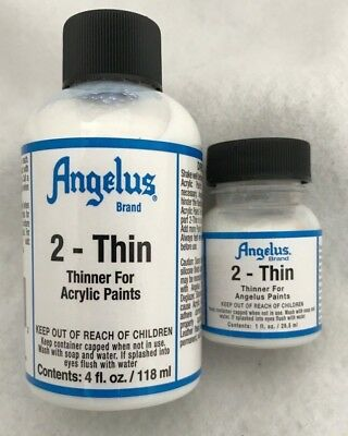 ANGELUS  2- THIN , THINNER FOR ACRYLIC PAINTS 118ml