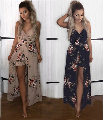 2018 Womens Summer Jumpsuit Holiday Sleeveless Playsuit Beach Mini Dress Shorts