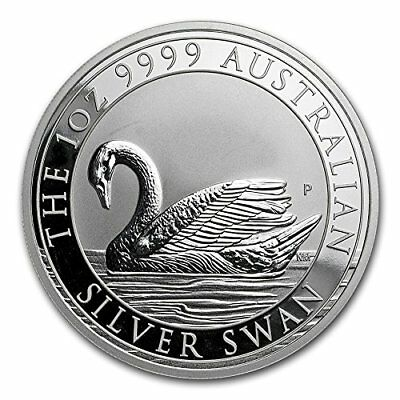 2017 Australia 1 oz Silver Swan BU Perth Mint Collectible Coin Sold Out ...