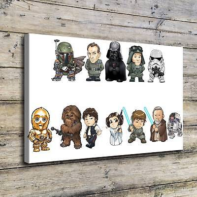 "12""x18""S101227-Star Wars Character Home Decor HD Canvas Print Wall Art Painting"