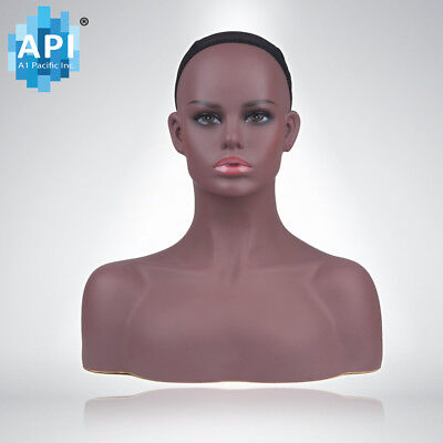 Plastic Mannequin Wig Head BUST DISPLAY HAT CAP Glasses HOLDER Stand DB 7645B