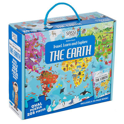 NEW Sassi Travel Learn & Explore The Earth Oval Puzzle