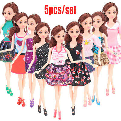 5PCS Princess Doll Dress Noble Party Gown clothes For Barbie Doll Fashion Outfit