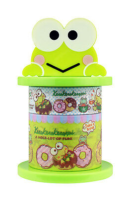 Sanrio Keroppi Paper Deco Tape with Holder (Frog)
