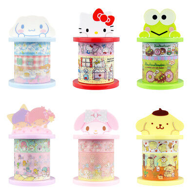 Sanrio Paper Deco Tape with Holders (Set of 6 Characters)