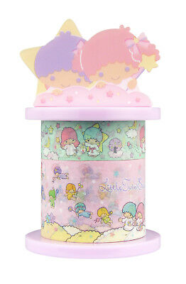 Sanrio Little Twin Stars Paper Deco Tape with Holder