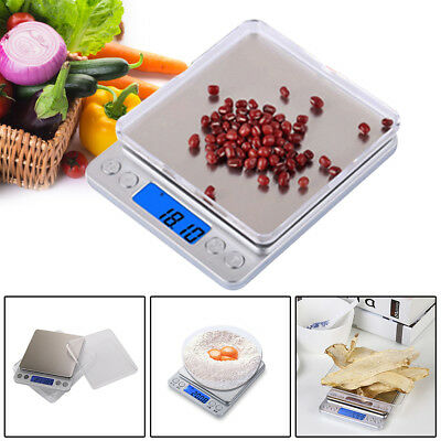 Stylish Silver LCD Pocket Scale Weighing Gold Herbs Jewellery 0.01 - 500g UK