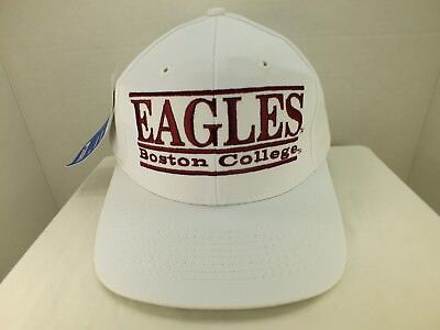 7cc825ebc89 Boston College Eagles Rare 90 s VINTAGE Bar SNAP BACK CAP Hat NEW By The  Game