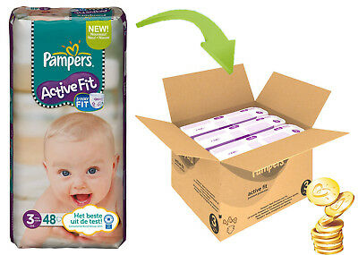Pampers Active Fit Size 3 Midi (4-9kg) 144pcs 3 Way Fit Protection Monthly Pack