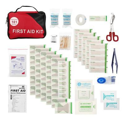 101PCS Safe Travel First Aid Kit Camping Hiking Medical Emergency Kit fr S8X9