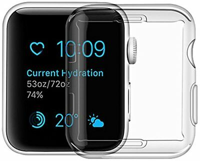 For Apple Watch Series 3 Case iphone Watch TPU Screen Protector Ultra-thin 38mm