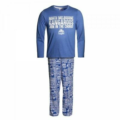 North Melbourne Kangaroos Official AFL Cotton Polyester Winter Youth Pyjamas