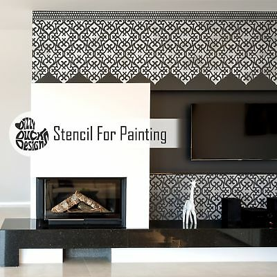 KARACHI Wall Furniture Floor Stencil for Painting
