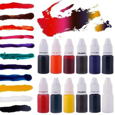 10ml Pratical Refill Ink Colorful Inking Flash Rubber Stamp Gift Decor EB