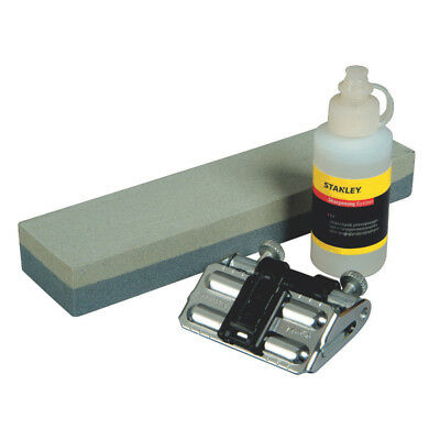 Stanley Knife Sharpening Kit Stone Oil Guide Chisel Blade Butchers Honing Guide