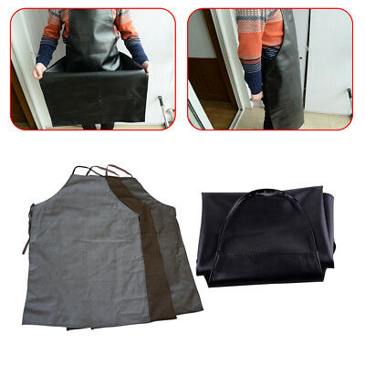 1x Faux Leather Welding Apron Equipment Welder Heat Insulation Protection Apron