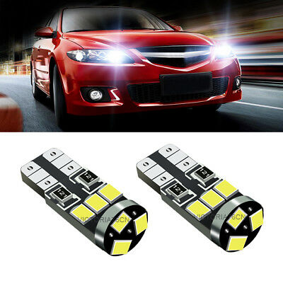 2Ps WHITE LED Parking Lights W5W Canbus Sidelight 24SMD Bulbs Upgrade Fits Boxer