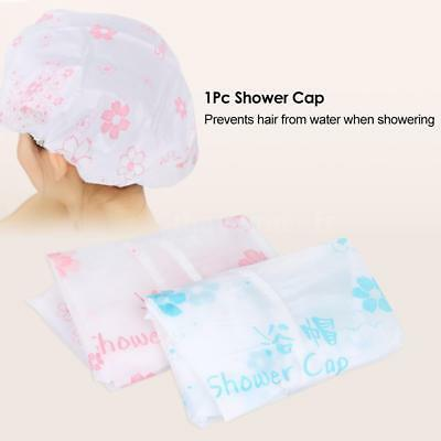 Shower Cap Hair Hat Net Plastic Shower Cap Head Cover Hat Elastic Hat D6A7