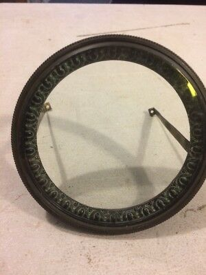 Antique French Mantle Clock Front Bezel Door With Glass