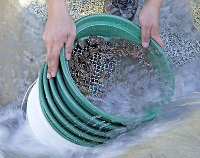 Set 5 Gold Panning Starter Kit Stackable Sifting Pan Tool Mesh Adventure Sport