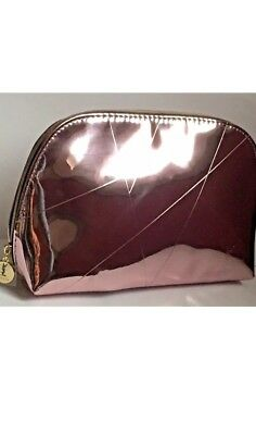 10a56402b18c YSL Yves Saint Laurent Rose Gold Metalic Beaute Pouch Makeup Cosmetic Clutch