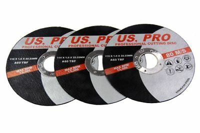 "10 x US PRO 115mm (4-1/2"") Thin Slit 1.0mm Inox Cutting Discs/Blades 8151"