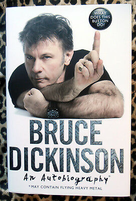 Bruce Dickinson What Does This Button Do? Buch / Book Signiert / Signed Neu!