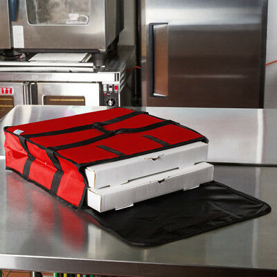 """6 PACK Insulated Catering Pizza Food Delivery Carrier Hot Bag Box Red 18"""" 16"""""""