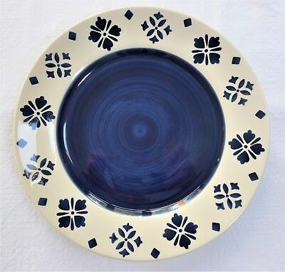 Moroccan Style Plates ~ Blue & Cream 27cm available Singly, Pairs or Set of Four