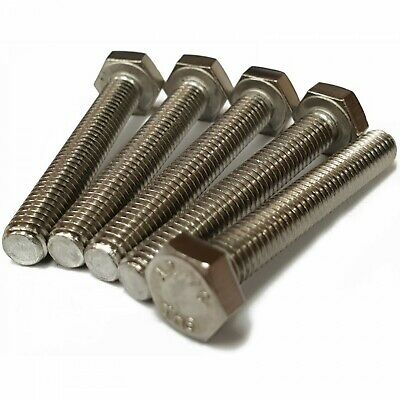 "UNC A2 Stainless Steel Hex Set Screws Fully Threaded Bolt 1/4"" 5/16"" 3/8"" 1/2"""