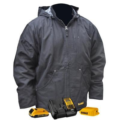 DEWALT DCHJ076D1-3X 3X-Large Heated Jacket with Hood and 20V Battery Kit