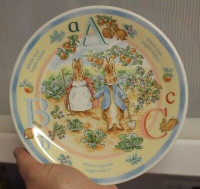 "CUTE Wedgewood PETER RABBIT Frederick Warne Child's ABC's Collector 7"" Plate"