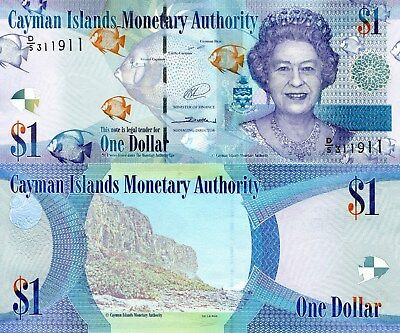 CAYMAN ISLANDS 1 Dollar Banknote World Polymer Money UNC Currency Pick New 2017