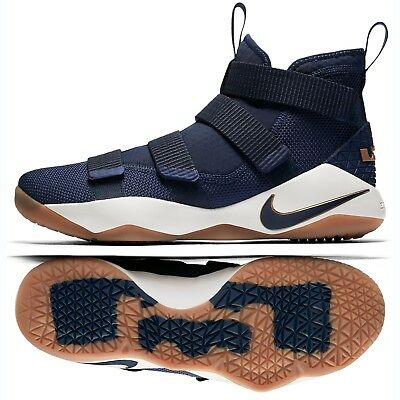 1c7754f8a5f Nike LeBron Soldier XI Cavs Alternate 897644-402 Navy Gold Men Basketball  Shoes