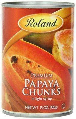 Roland Papaya, Chunks in Light Syrup, 15 Ounce (Pack of 12)