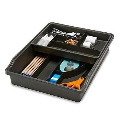 Madesmart Granite Junk Drawer Organizer with Removable top tray