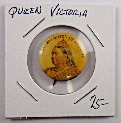 1897 Victoria Queen of England British Royalty Pin Pinback Button Badge