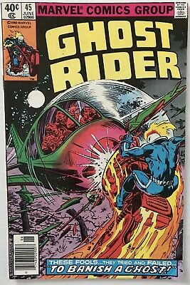 """Ghost Rider #45 (Vol.1): """"TO BANISH A GHOST"""" (Marvel 1980) BRONZE AGE"""