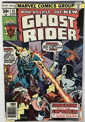 Ghost Rider #24 (Vol.1): 2ND APPEARANCE OF WATER WIZARD (Marvel 1977)