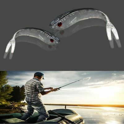 10pcs Lead Jig Head Soft Bait Worm Barbed Hook Fishing Lure Minnow Curly Tail