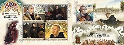 CA17815ab Central Africa 2017 Martin Luther Reformation 500 Years MNH SET **