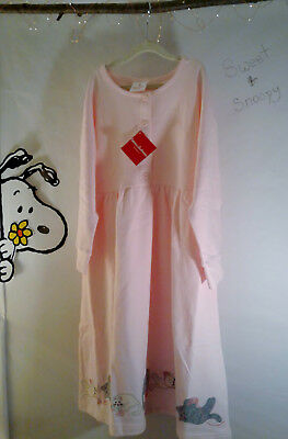 160 Cozy Critter Dress Girls Hanna Andersson Pink Applique Cats NEW NWT