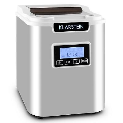 eisw rfel maschine bereiter icemaker kompressor tisch edelstahl silver 12kg tag eur 129 99. Black Bedroom Furniture Sets. Home Design Ideas
